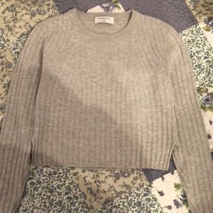 Grey BABATON knit sweater